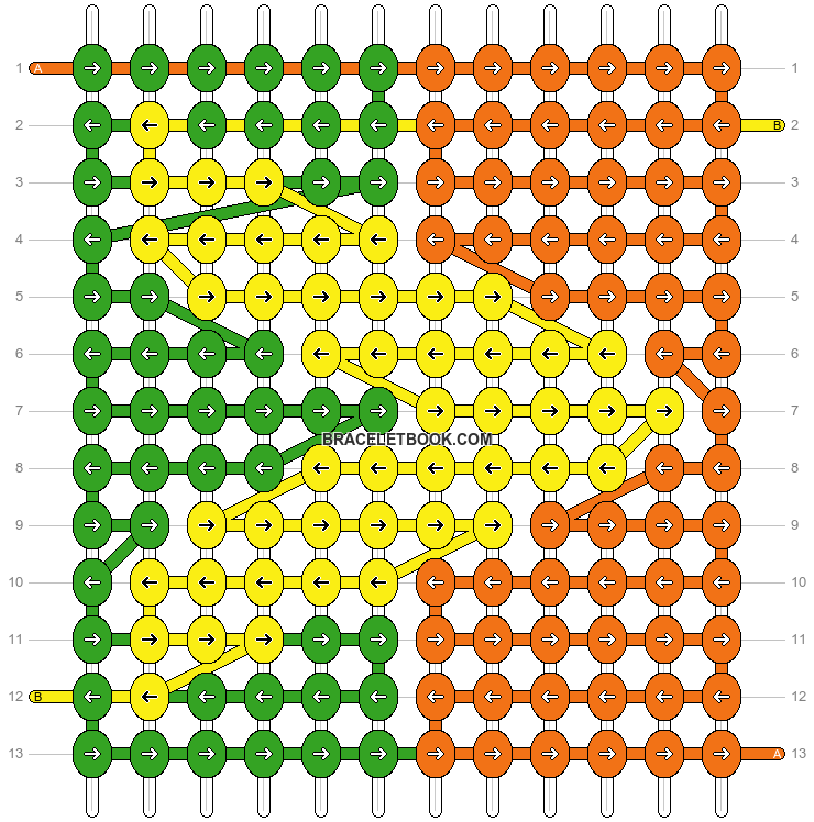 Alpha pattern #10722 pattern