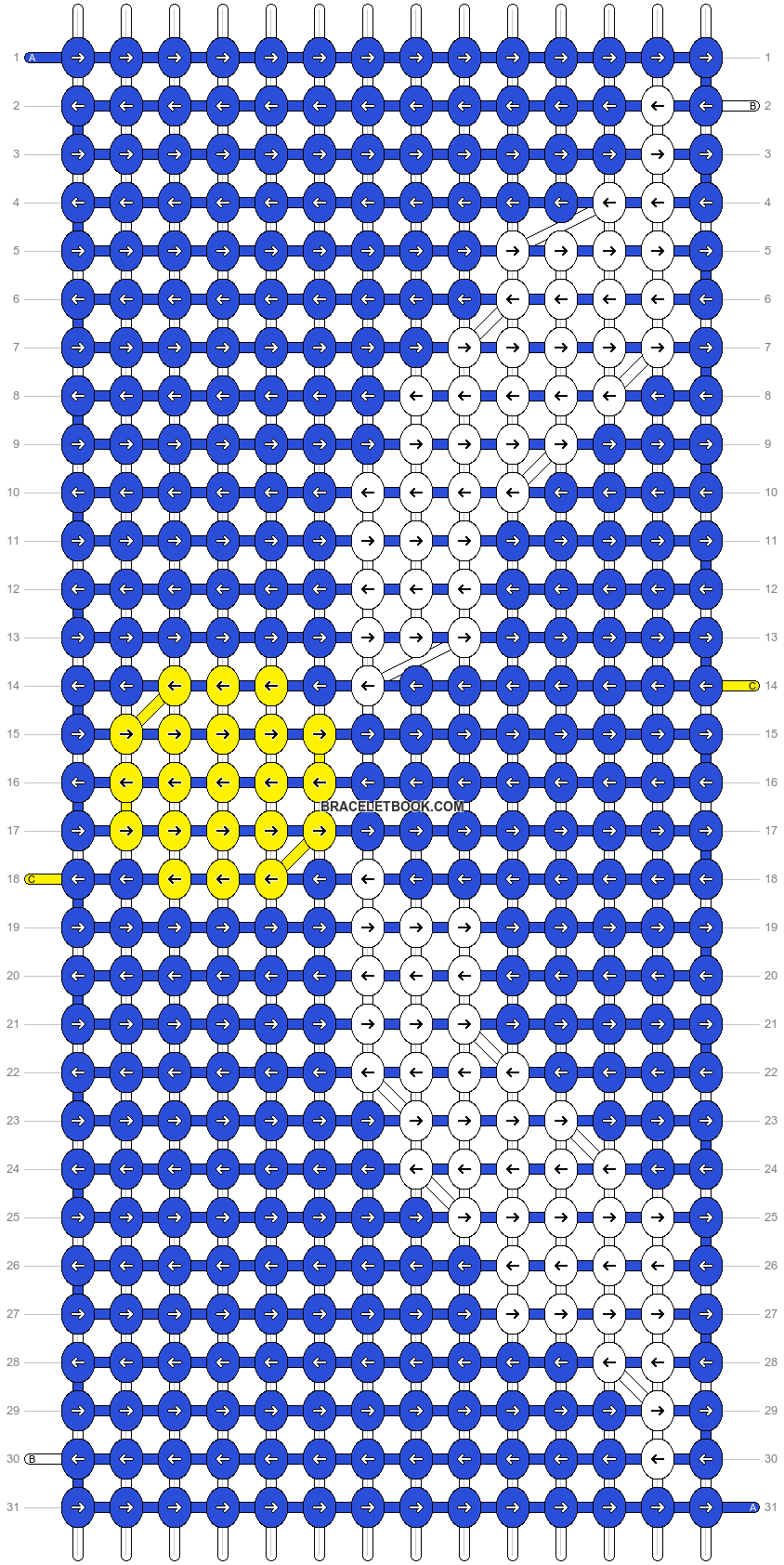 Alpha pattern #10737 pattern