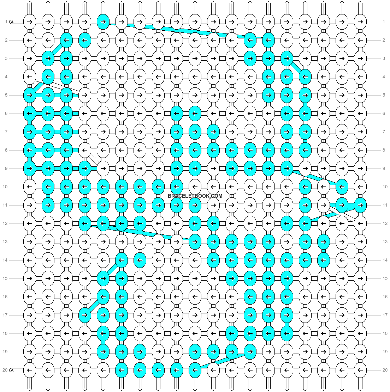 Alpha pattern #10785 pattern
