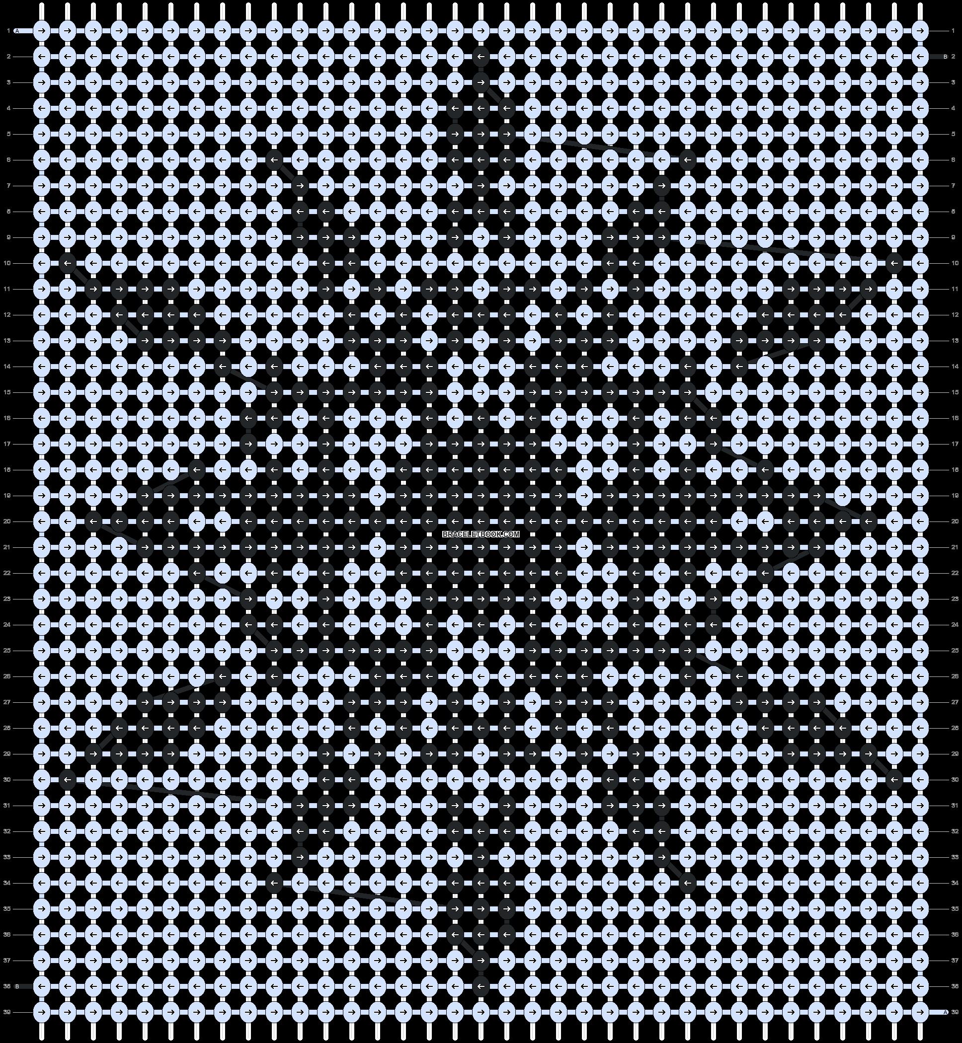 Alpha pattern #10834 pattern