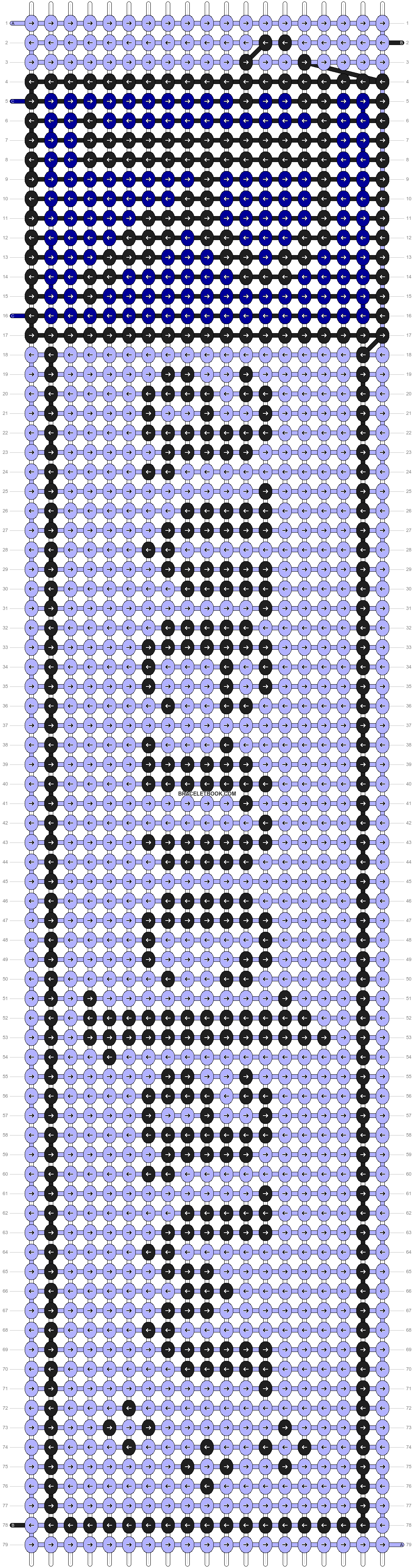 Alpha pattern #10849 pattern