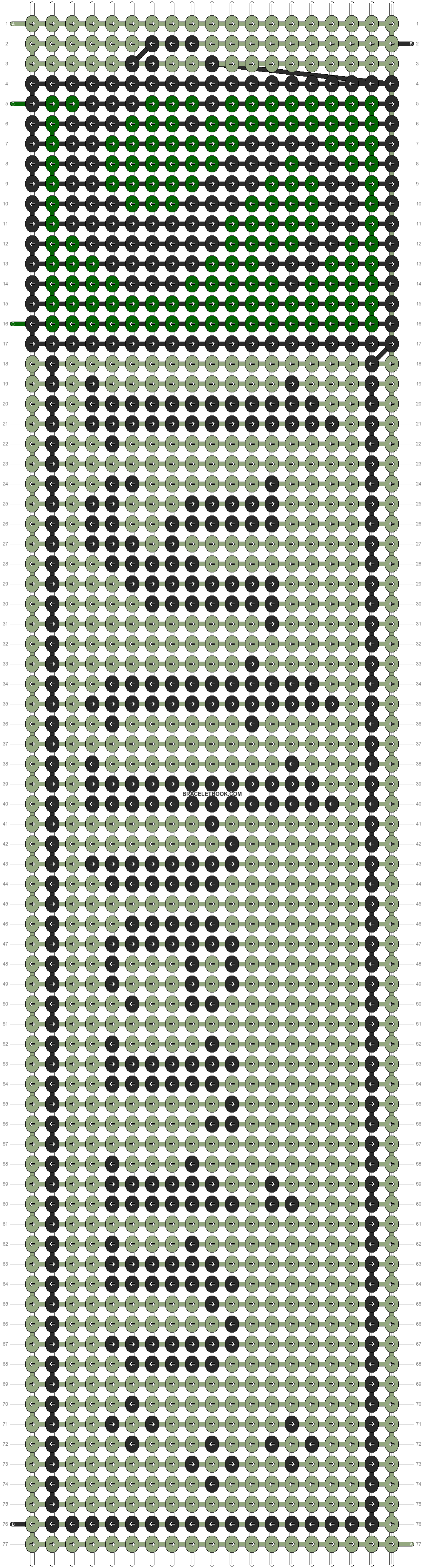 Alpha pattern #10850 pattern