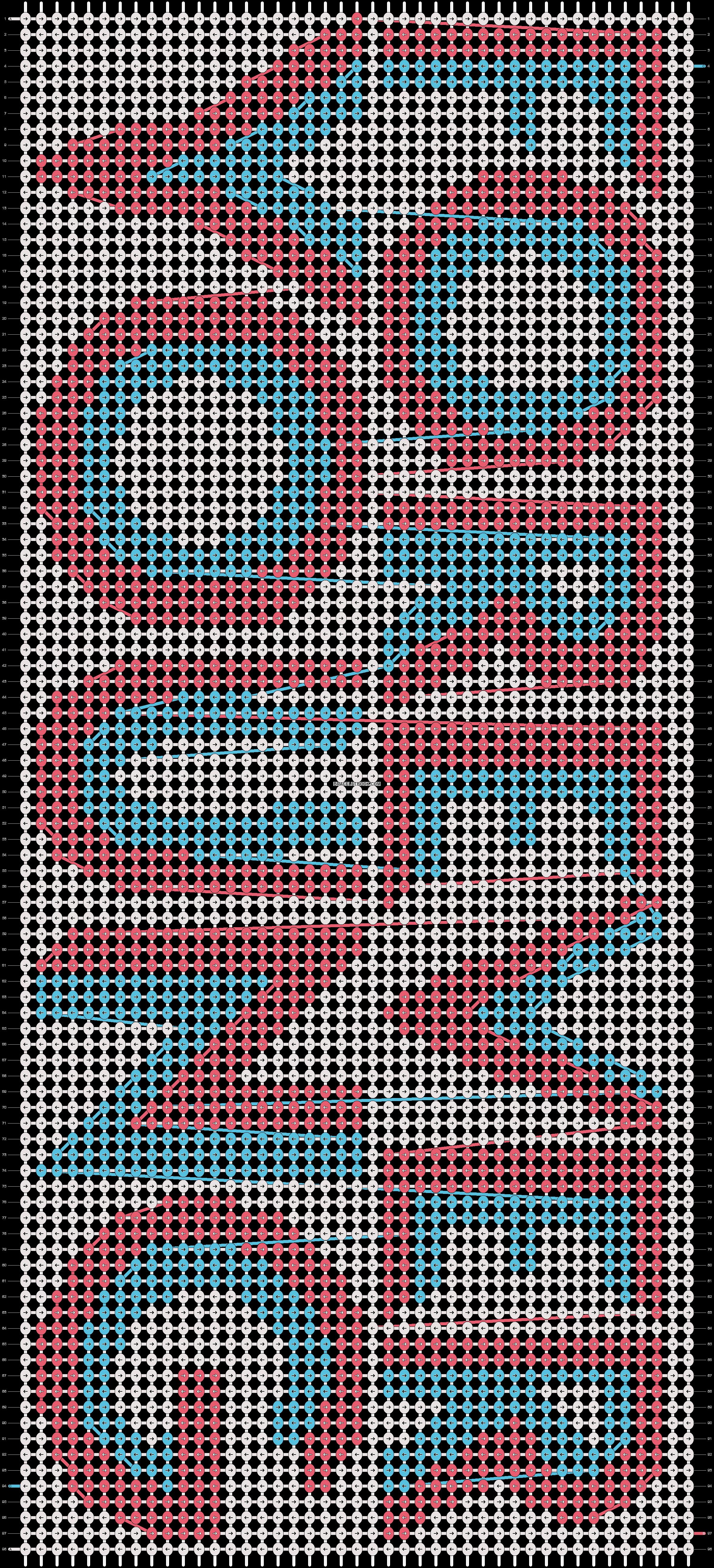 Alpha pattern #10855 pattern