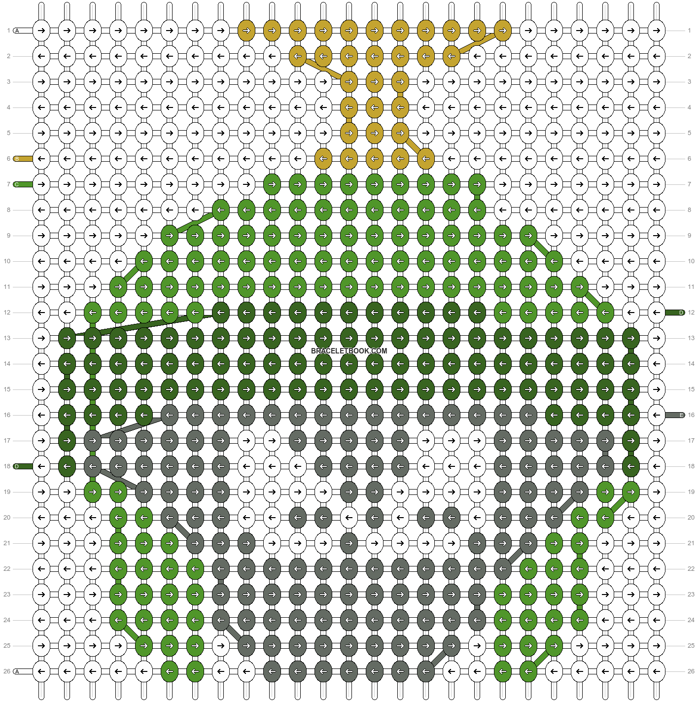 Alpha pattern #10890 pattern