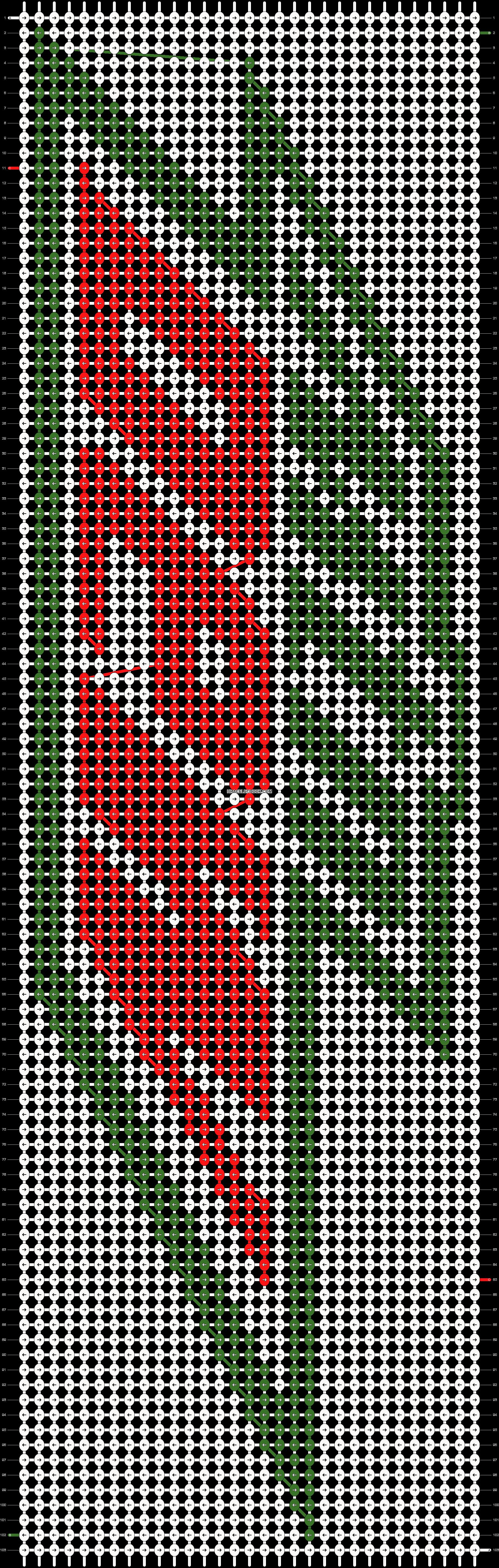 Alpha pattern #10974 pattern