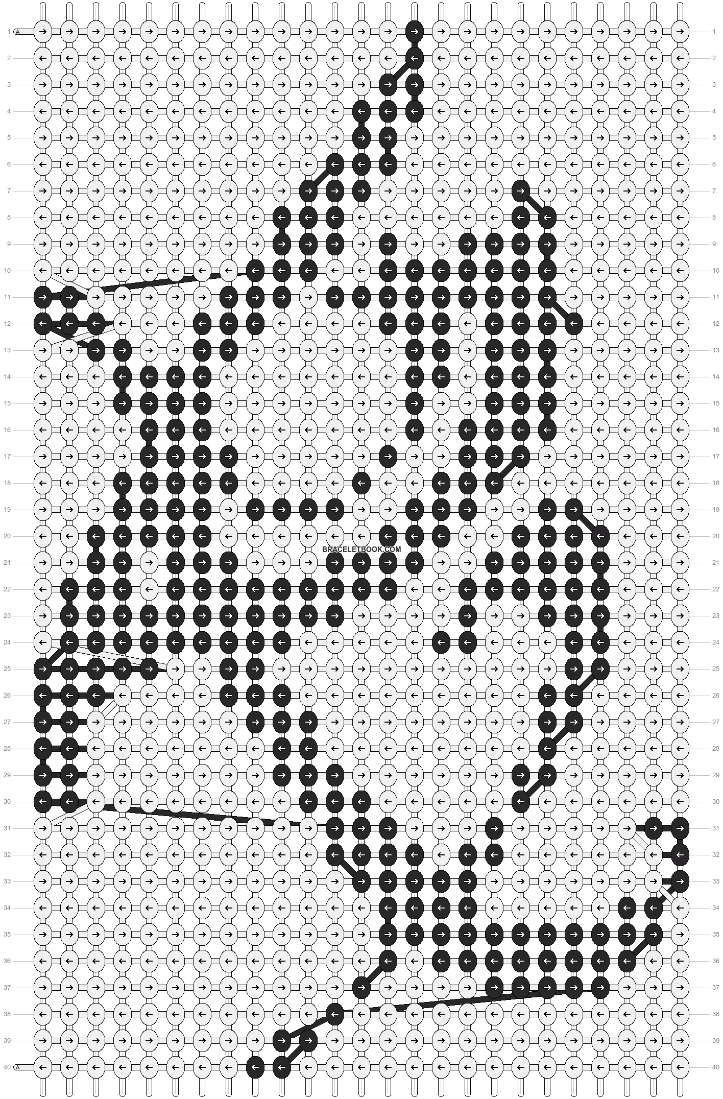 Alpha pattern #10990 pattern