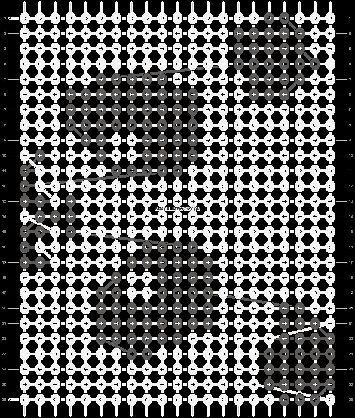 Alpha pattern #11037 pattern