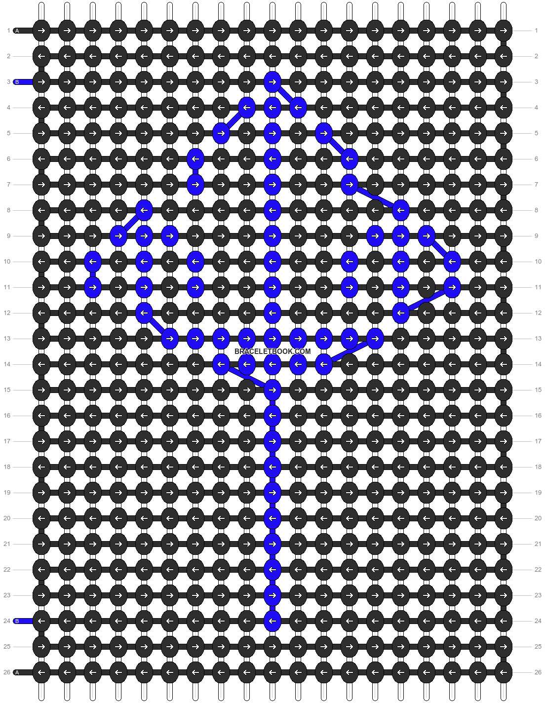 Alpha pattern #11041 pattern