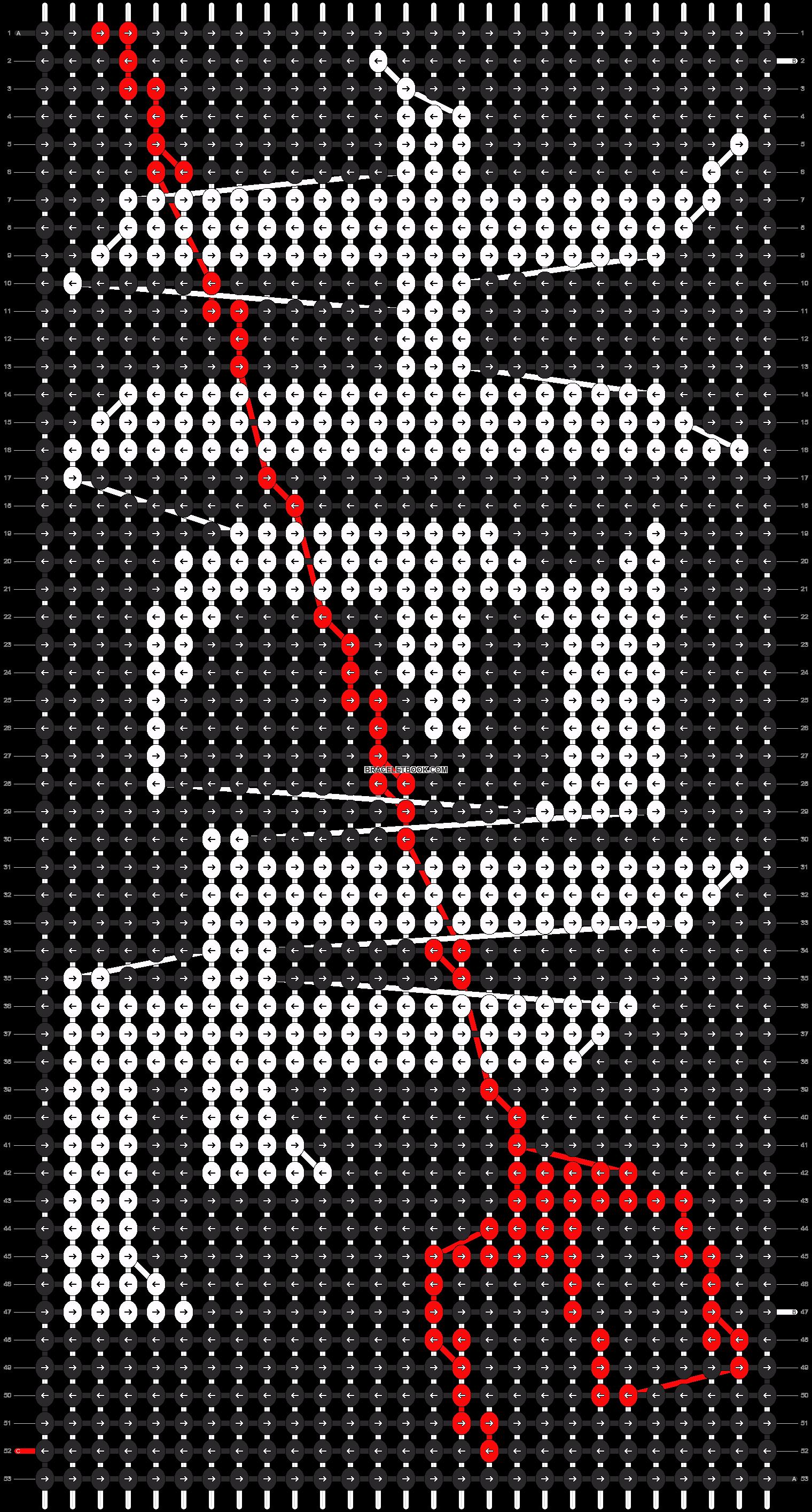 Alpha pattern #11042 pattern
