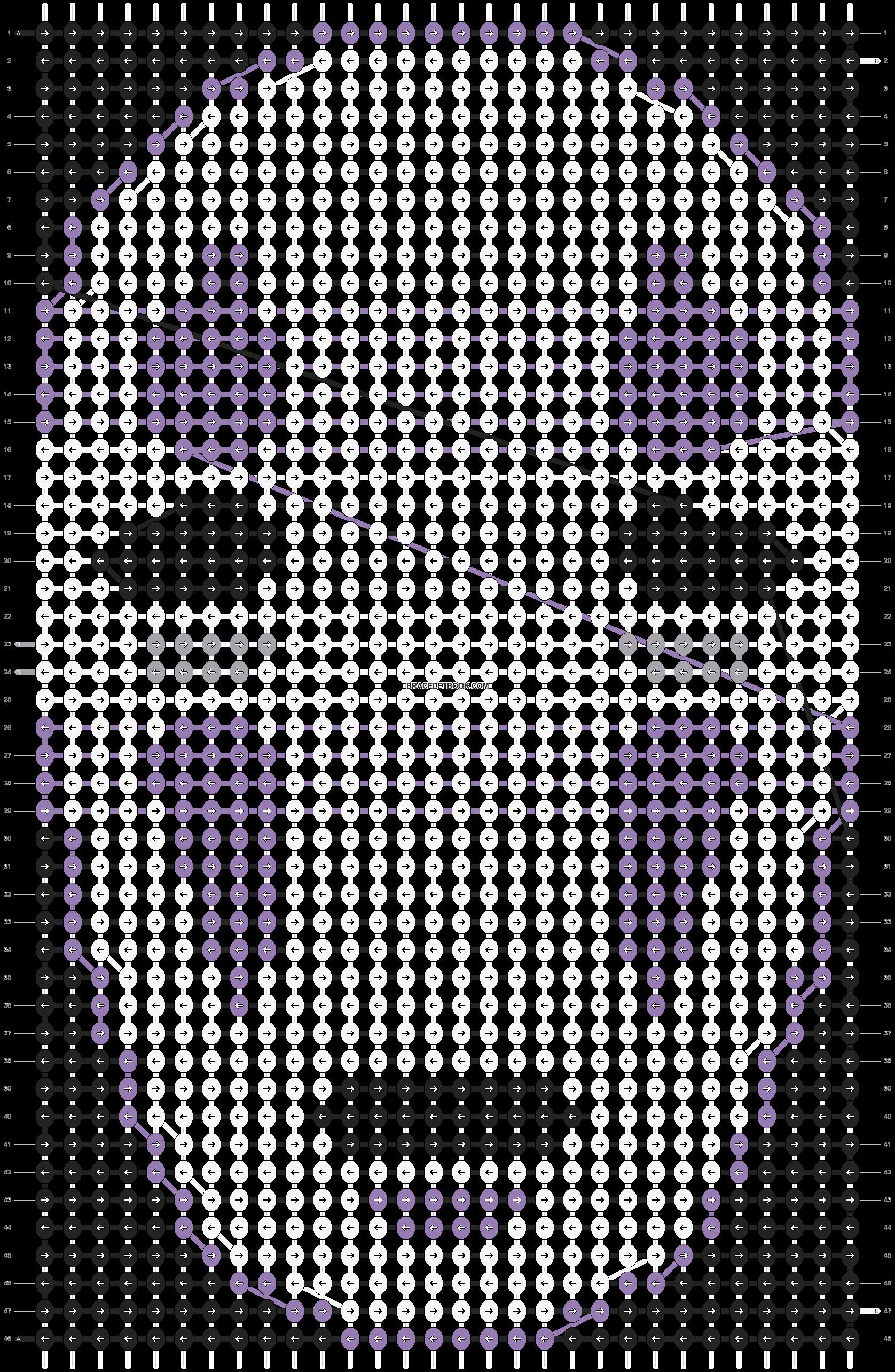 Alpha pattern #11076 pattern