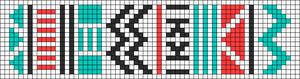 Alpha Friendship Bracelet Pattern #11157