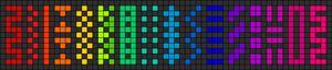 Alpha Friendship Bracelet Pattern #11165