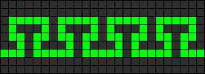 Alpha Friendship Bracelet Pattern #11478