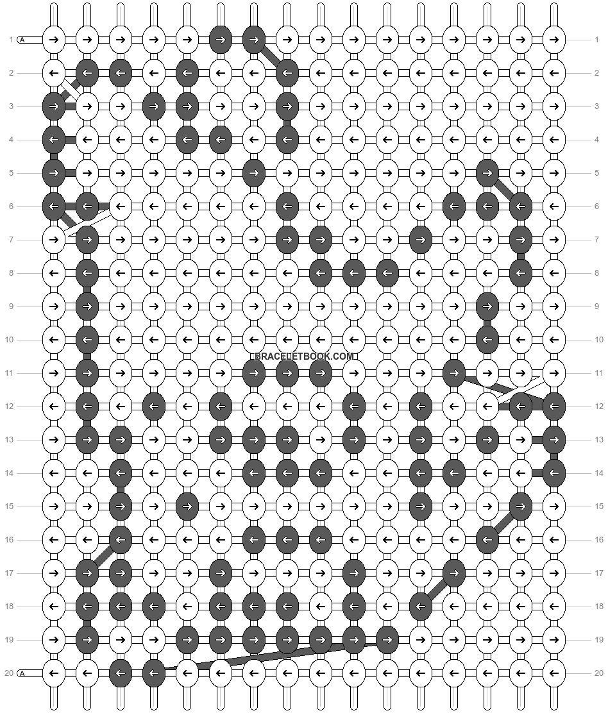 Alpha pattern #11608 pattern