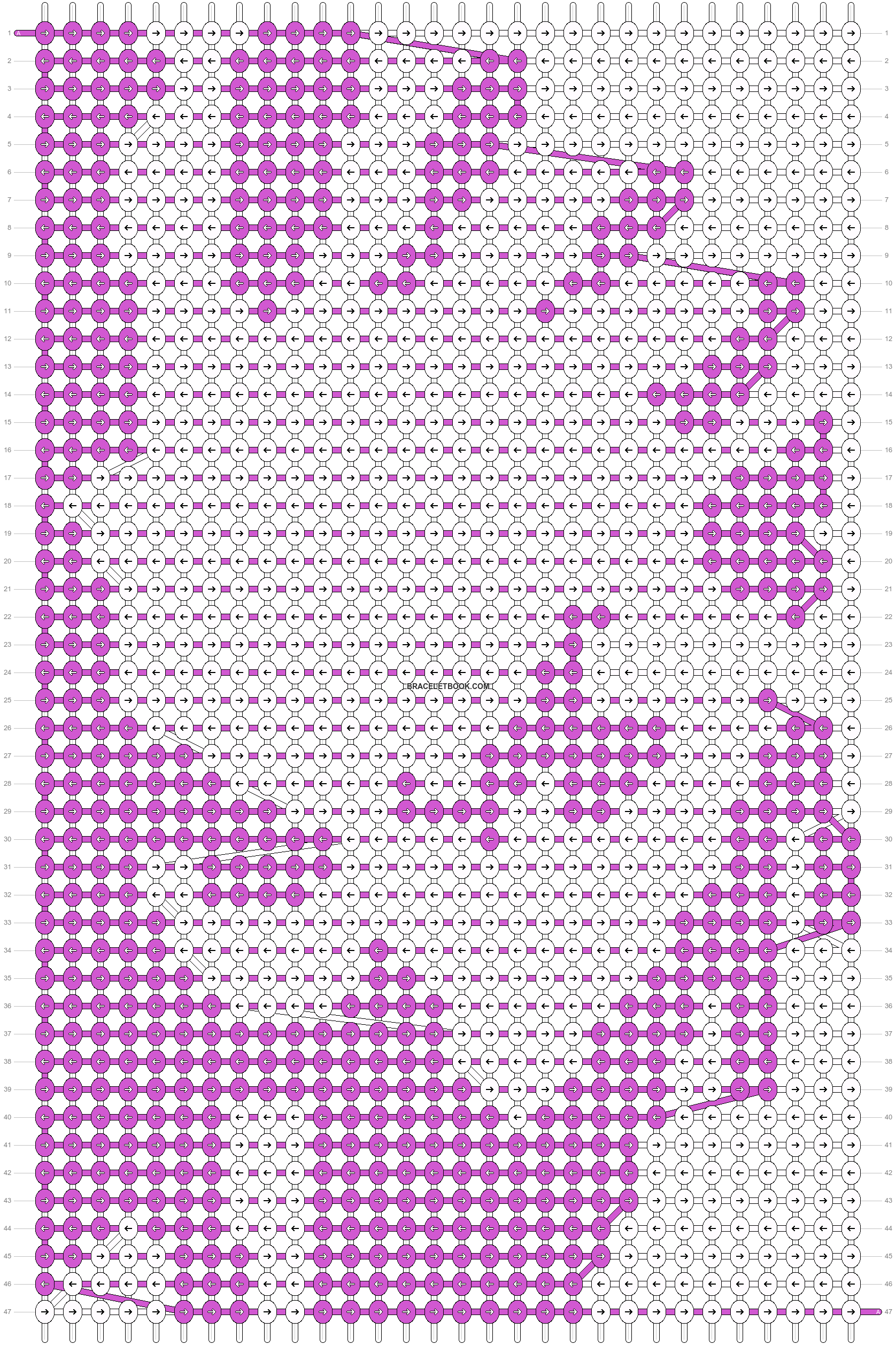 Alpha pattern #11662 pattern