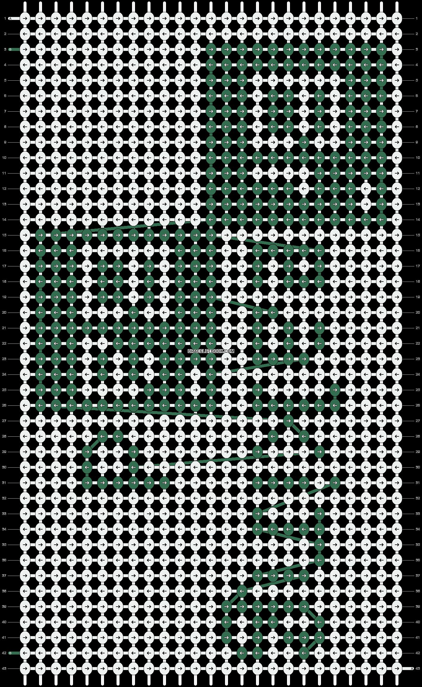 Alpha pattern #12039 pattern