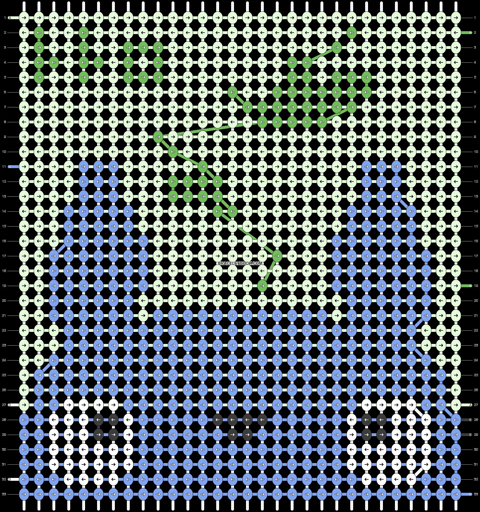 Alpha pattern #12074 pattern