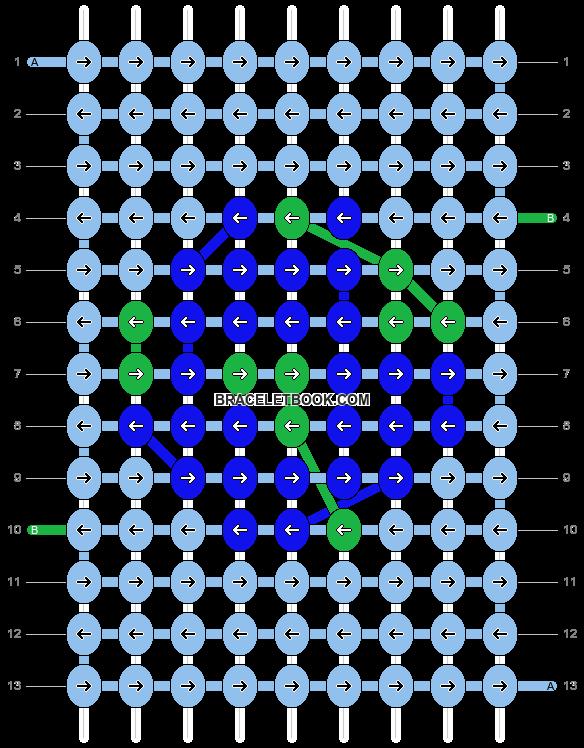 Alpha pattern #12100 pattern