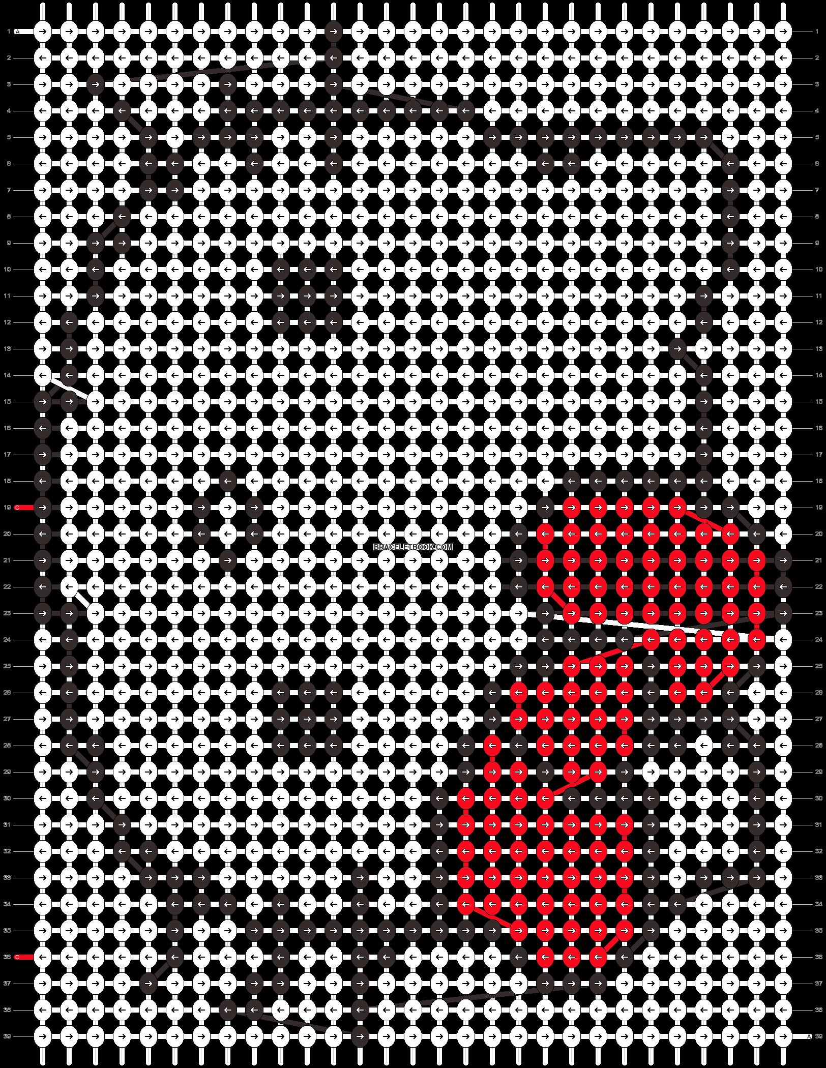 Alpha pattern #12350 pattern