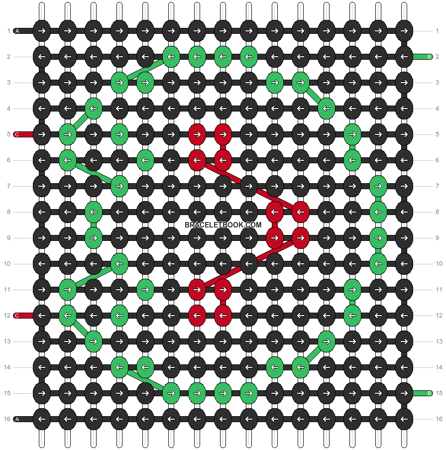 Alpha pattern #12814 pattern