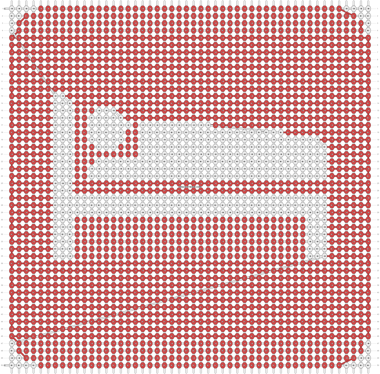 Alpha pattern #12860 pattern