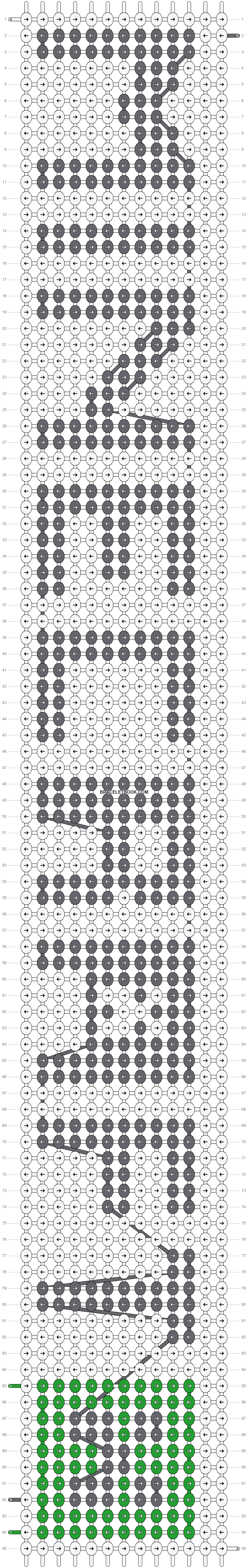 Alpha pattern #12957 pattern
