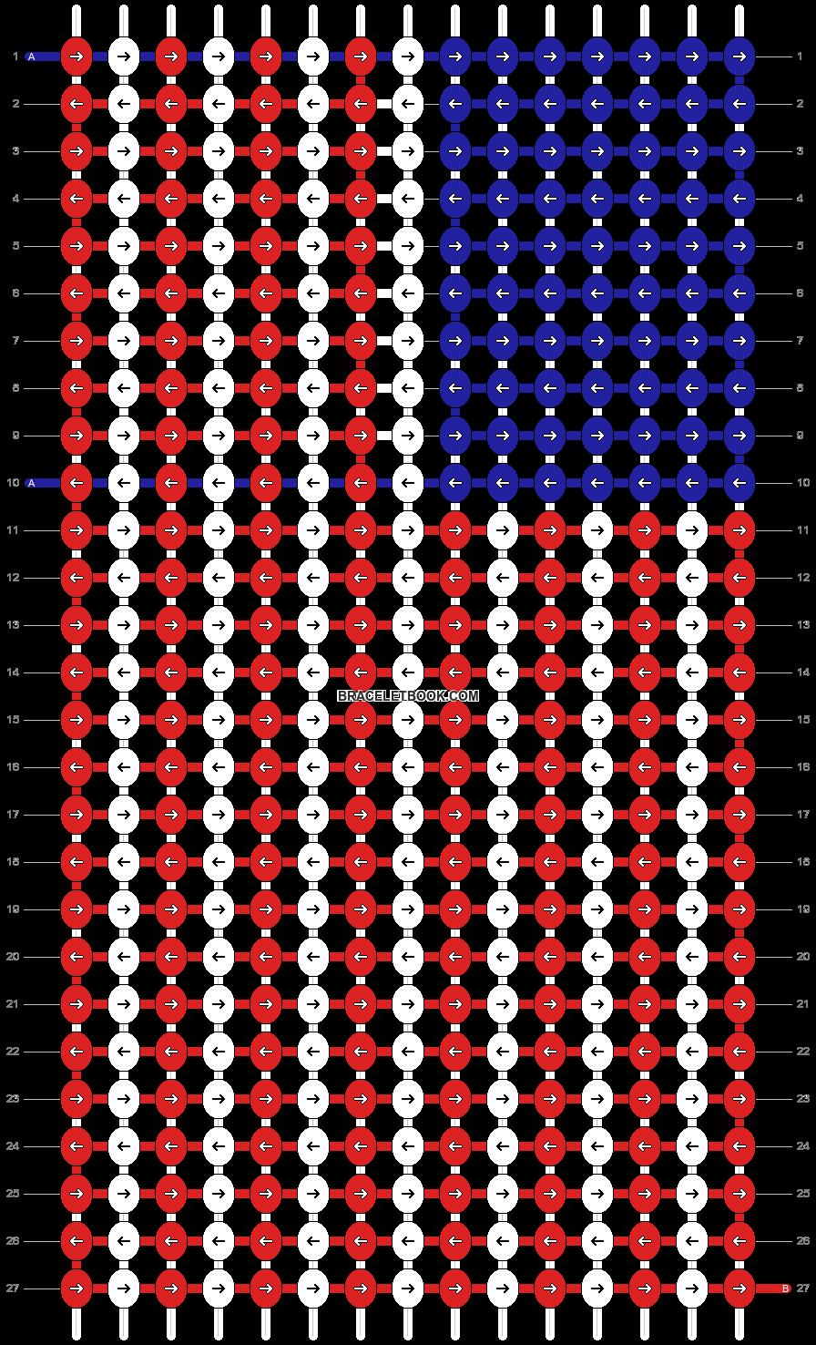 Alpha pattern #13006 pattern