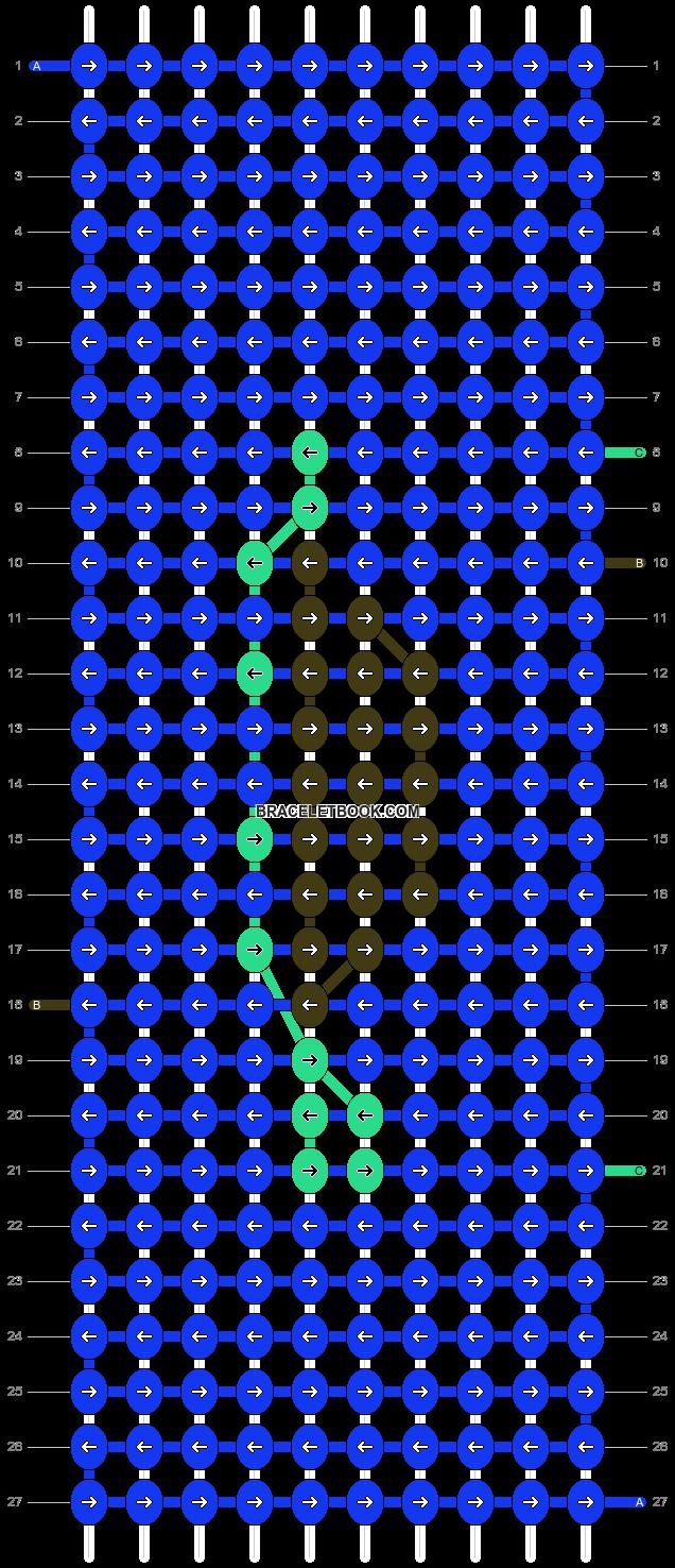 Alpha pattern #13025 pattern