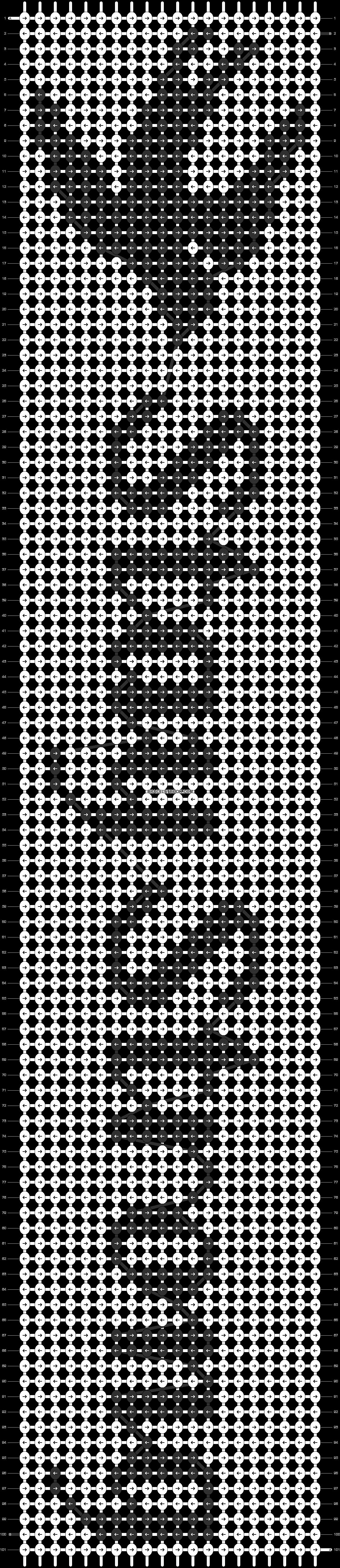 Alpha pattern #13028 pattern