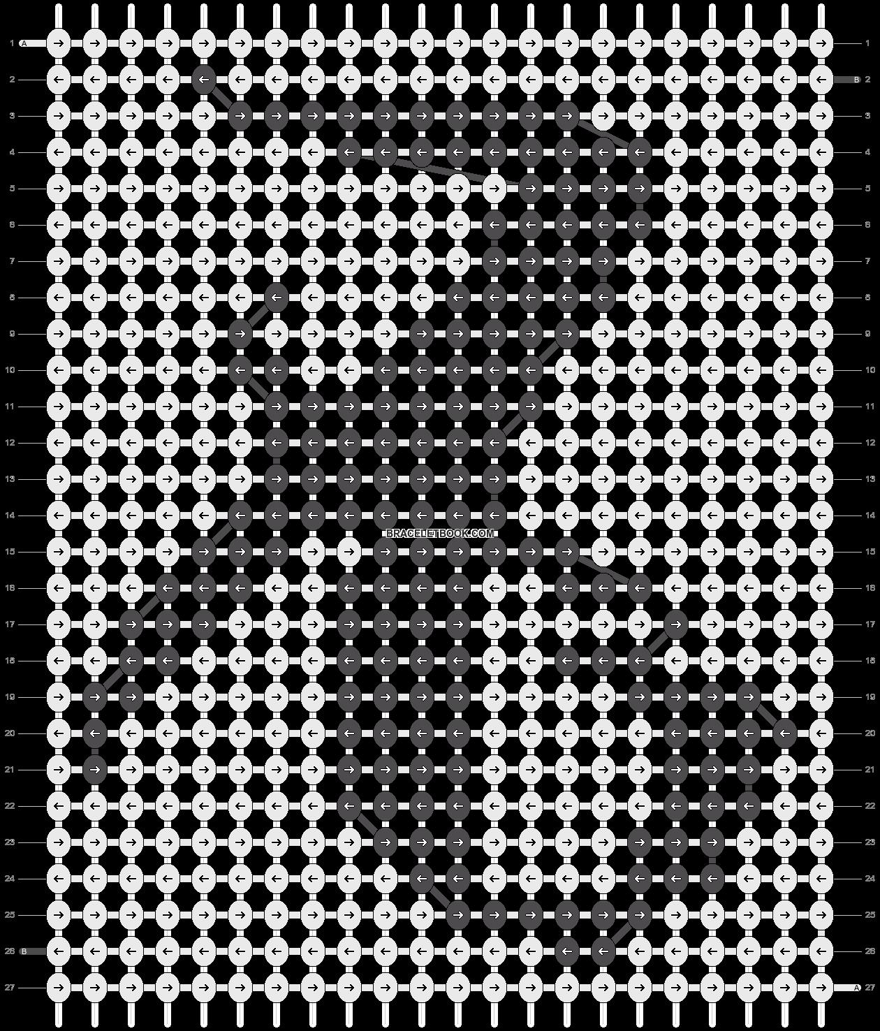 Alpha pattern #13030 pattern