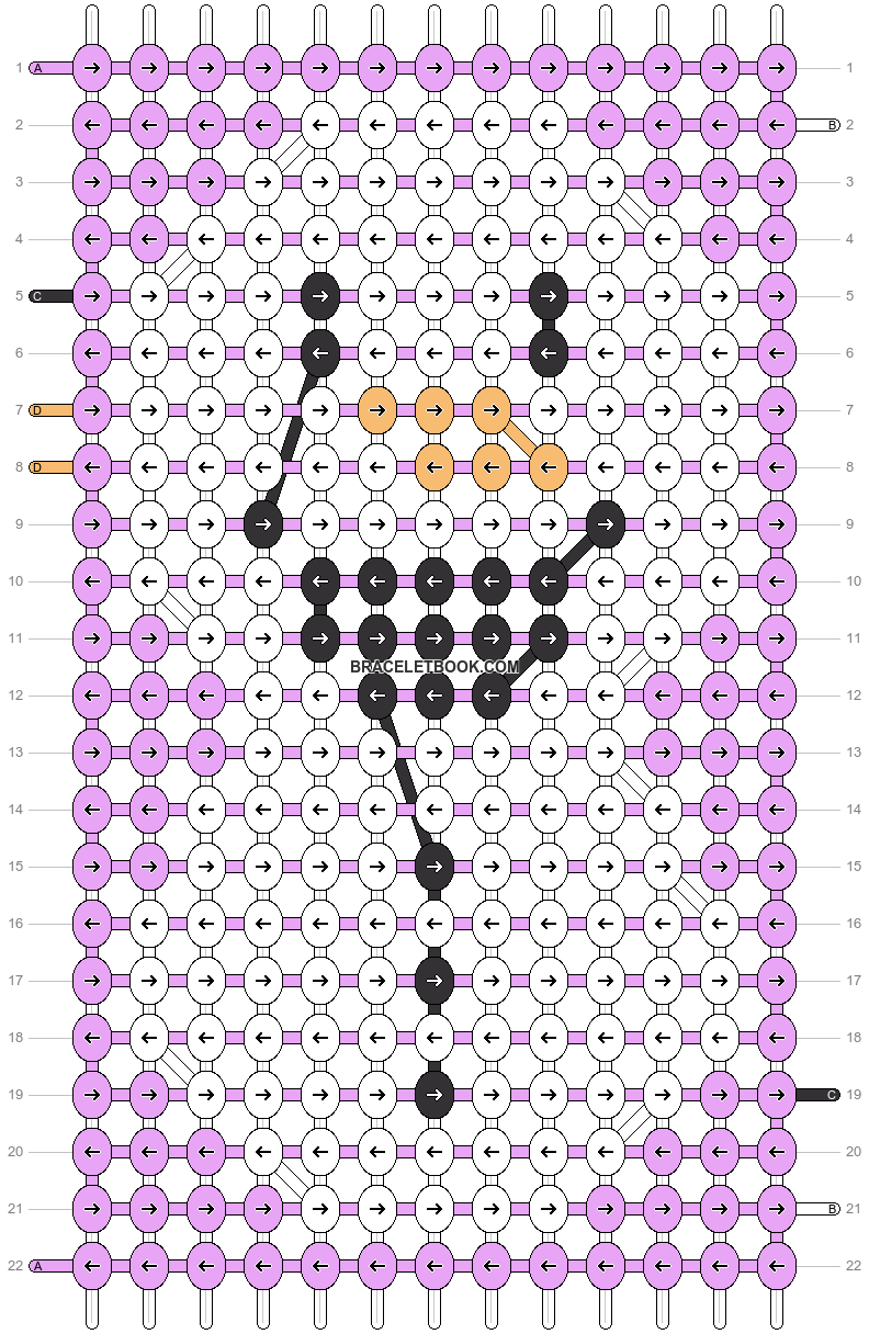 Alpha pattern #13031 pattern