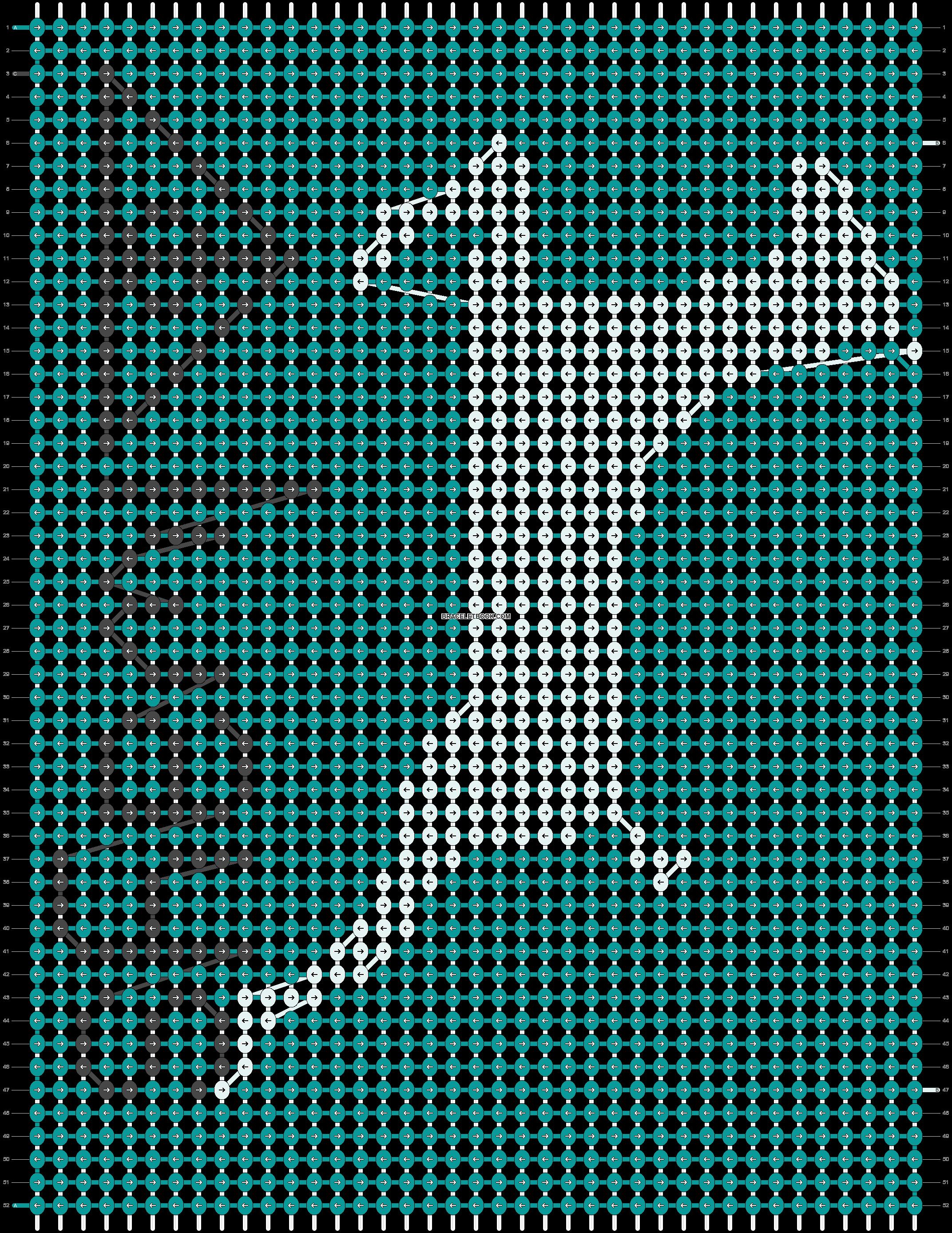Alpha pattern #13050 pattern