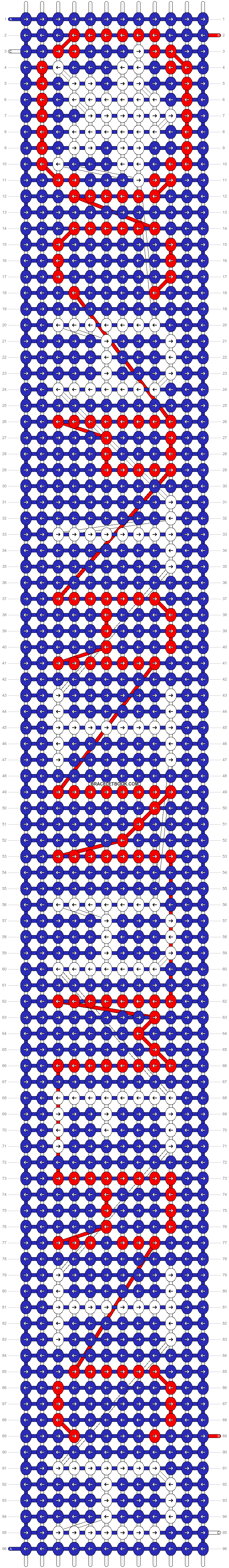 Alpha pattern #13055 pattern