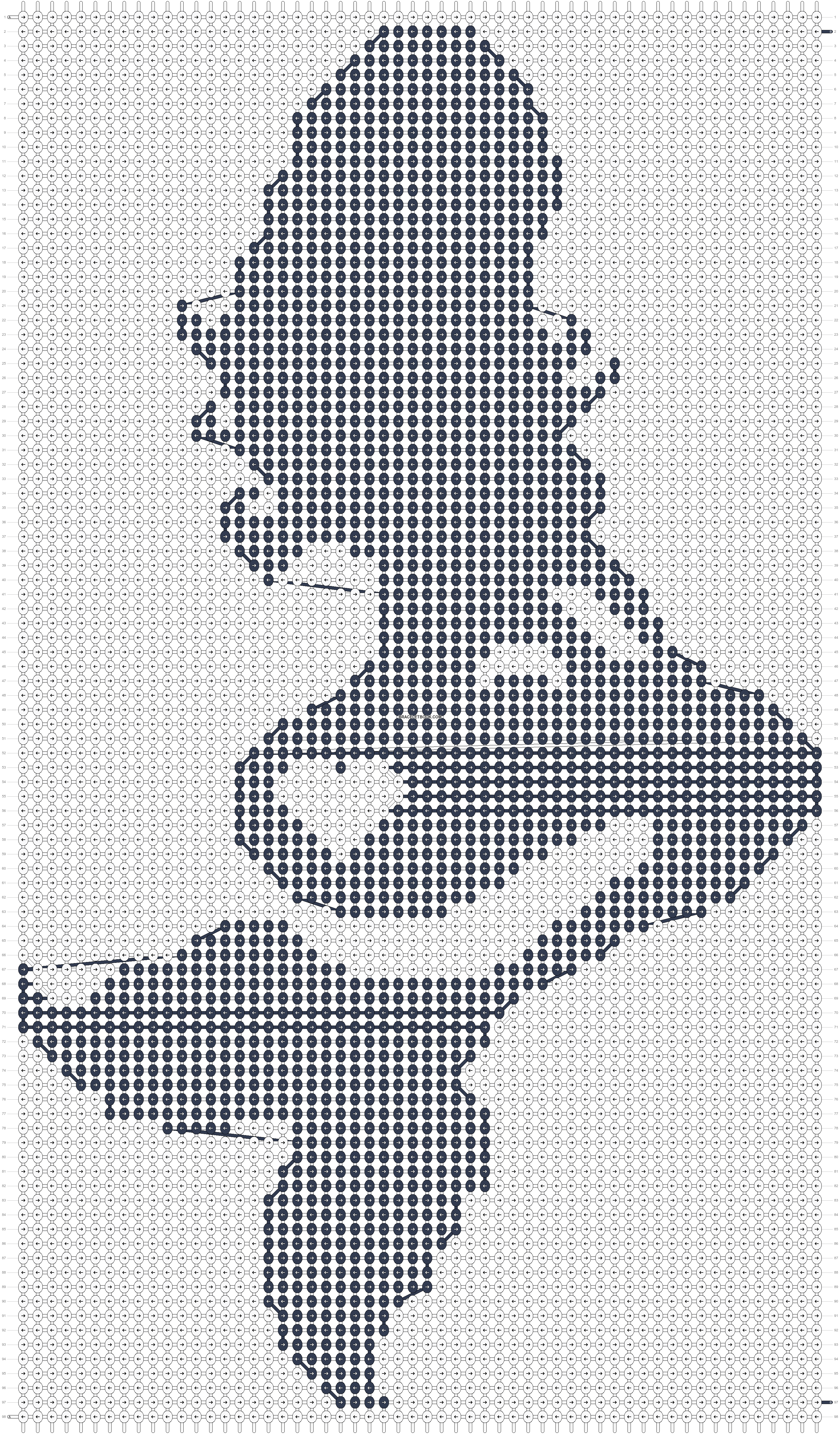Alpha pattern #13078 pattern