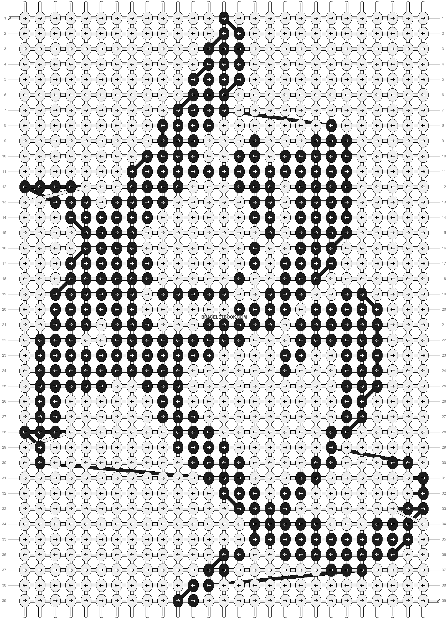 Alpha pattern #13089 pattern