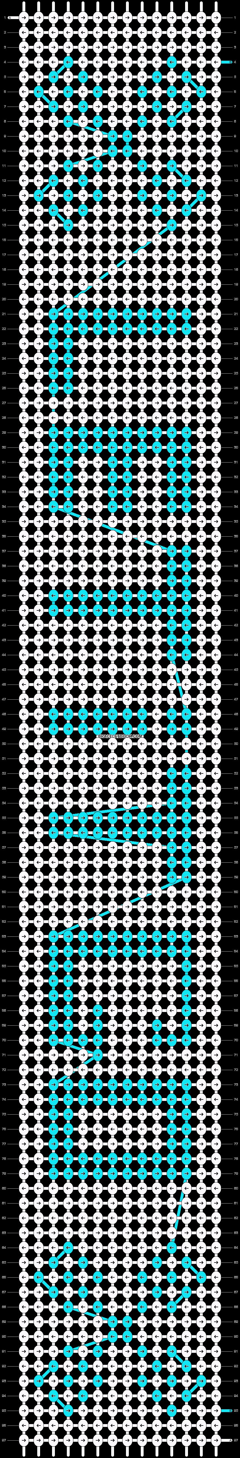 Alpha pattern #13091 pattern