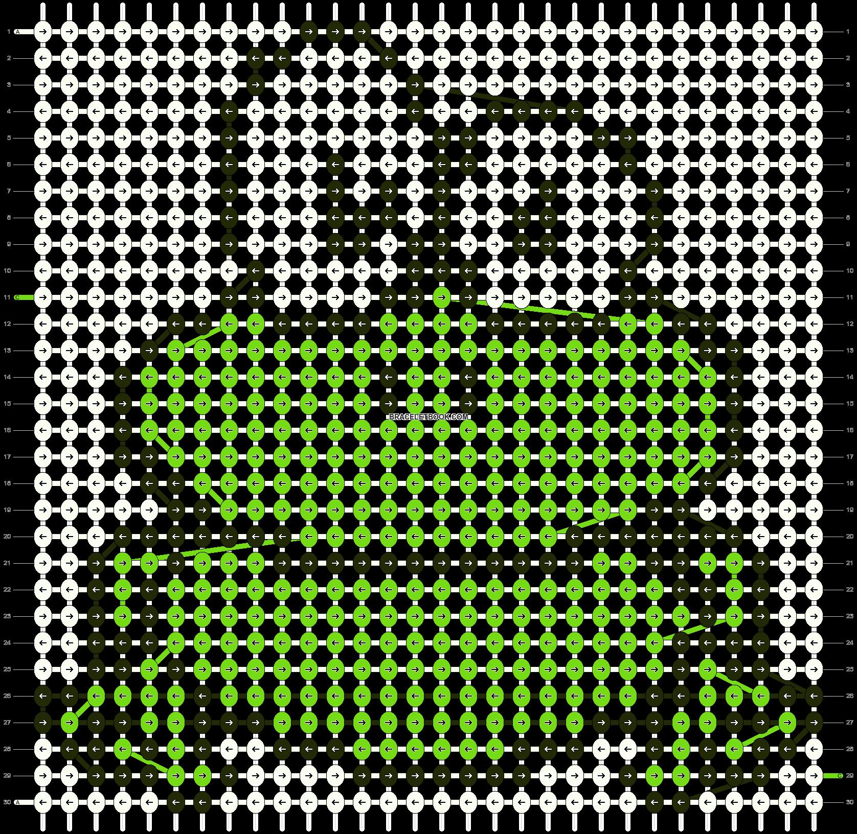 Alpha pattern #13108 pattern