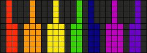 Alpha Friendship Bracelet Pattern #13239