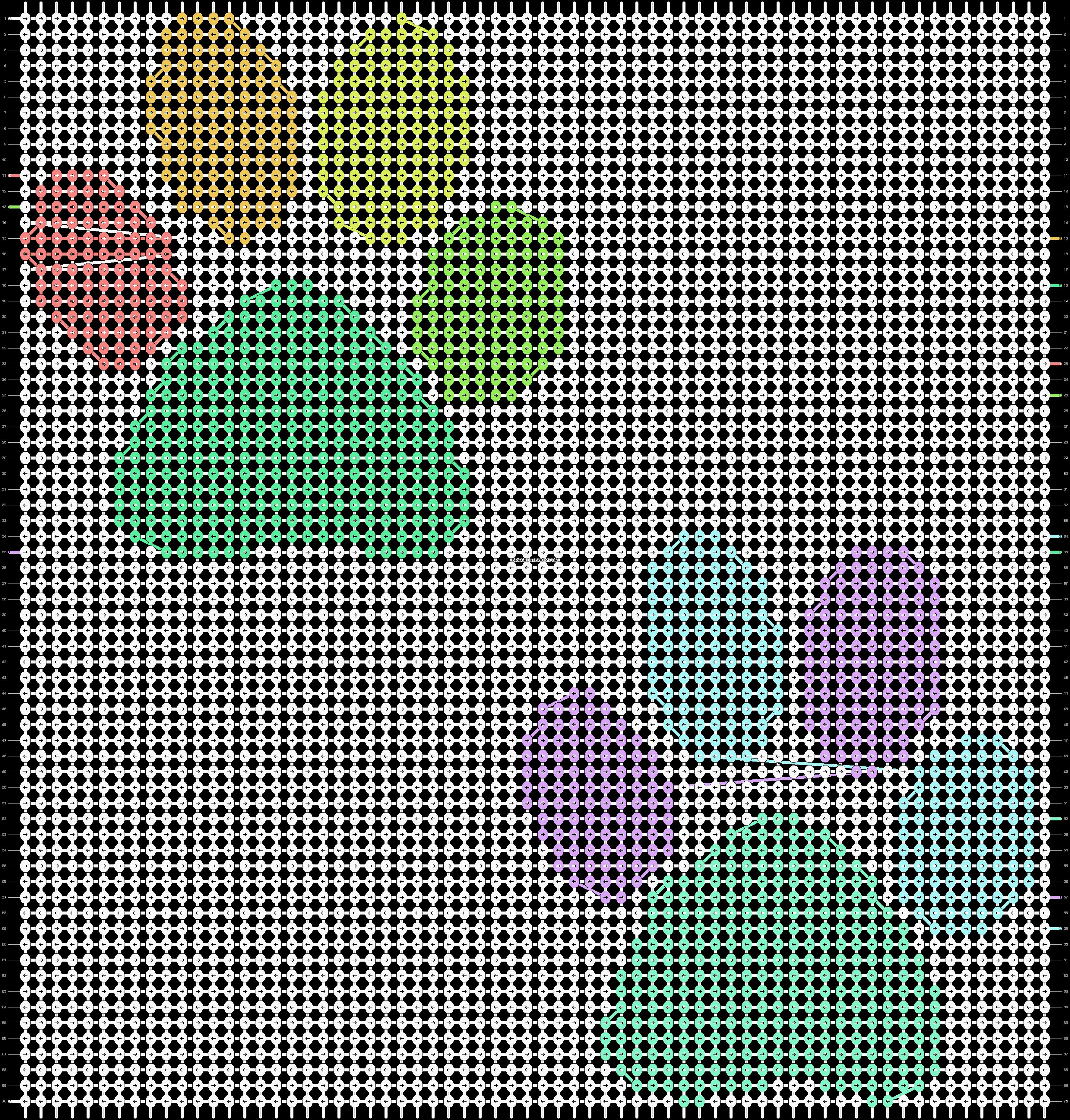 Alpha pattern #13401 pattern