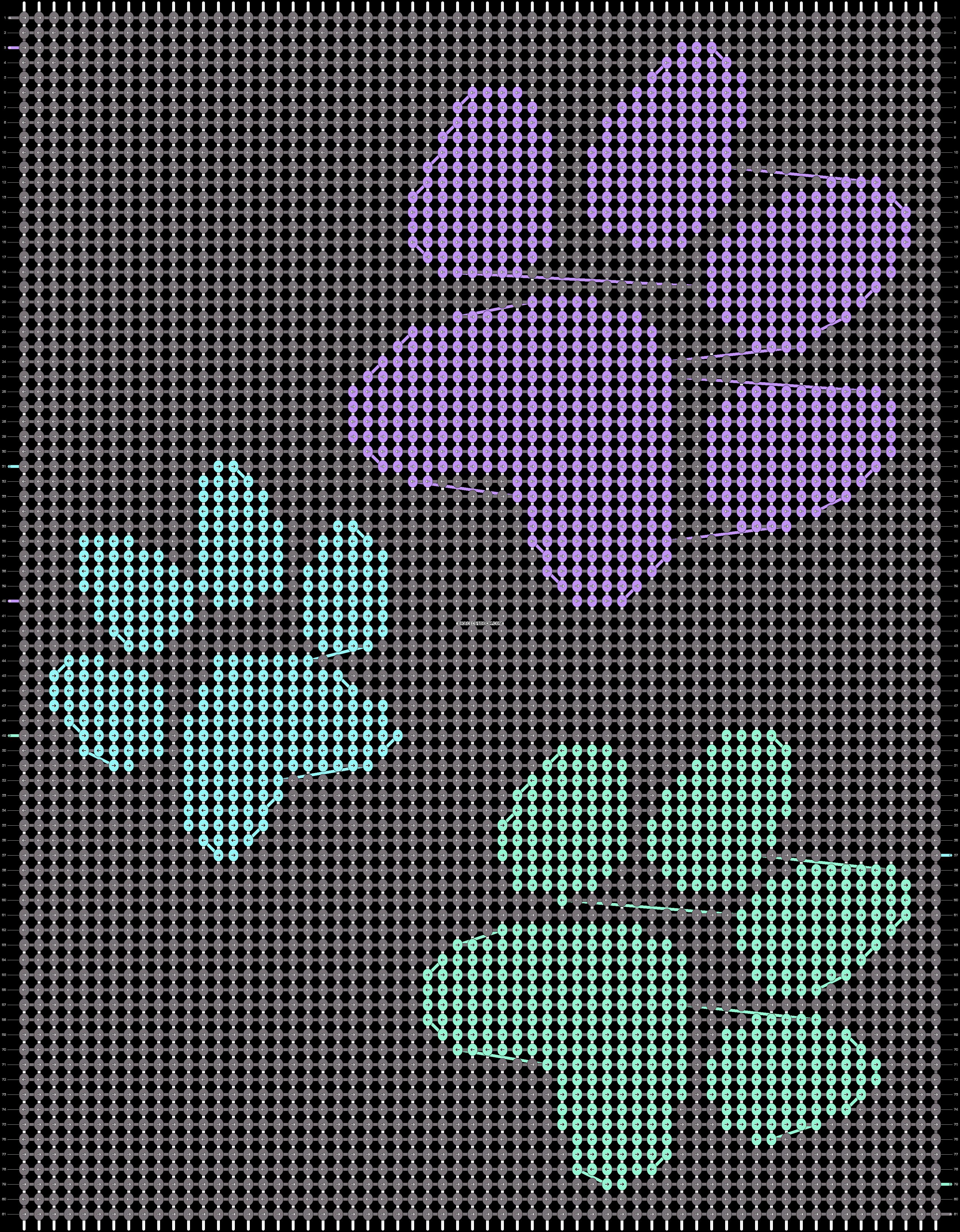 Alpha pattern #13402 pattern