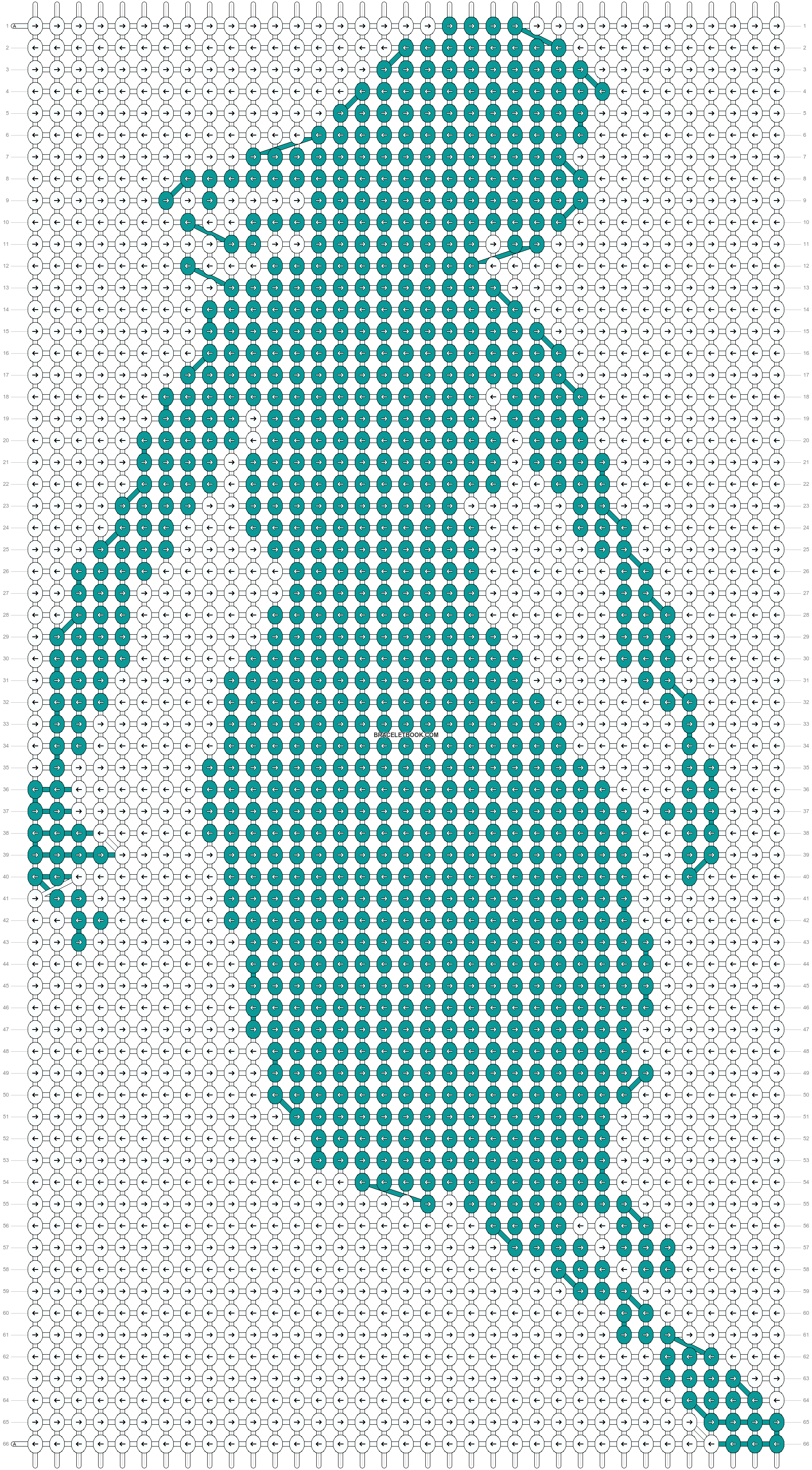 Alpha pattern #13407 pattern