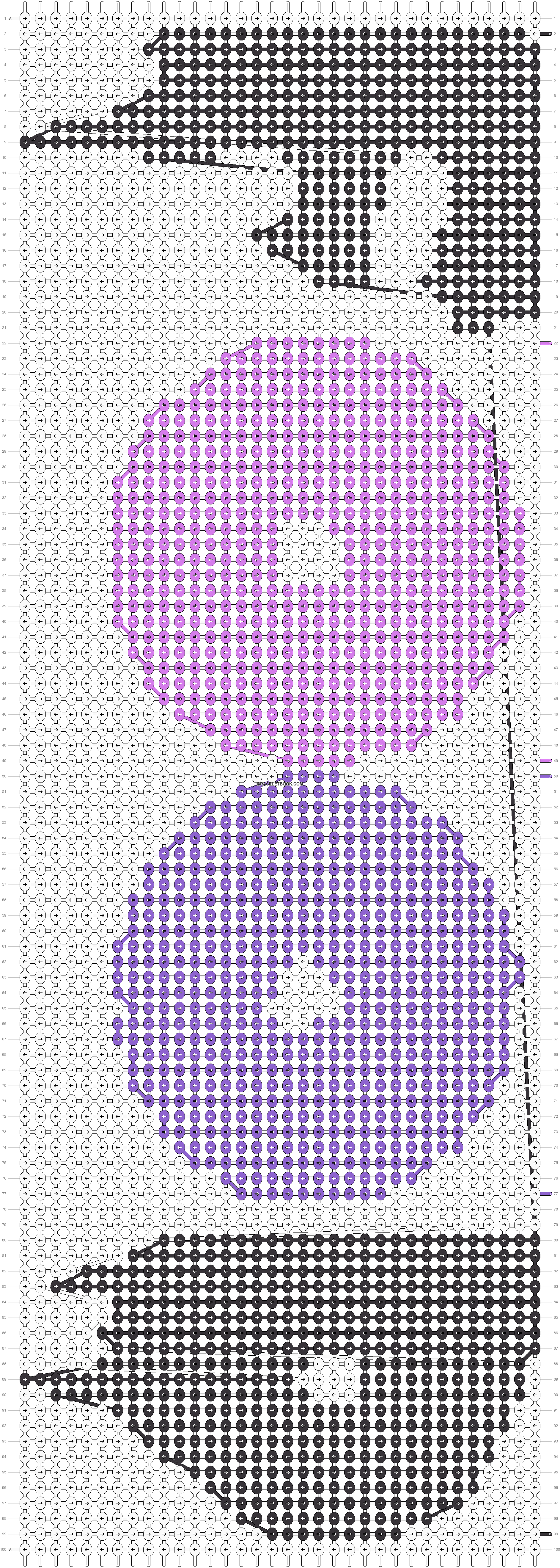 Alpha pattern #13591 pattern