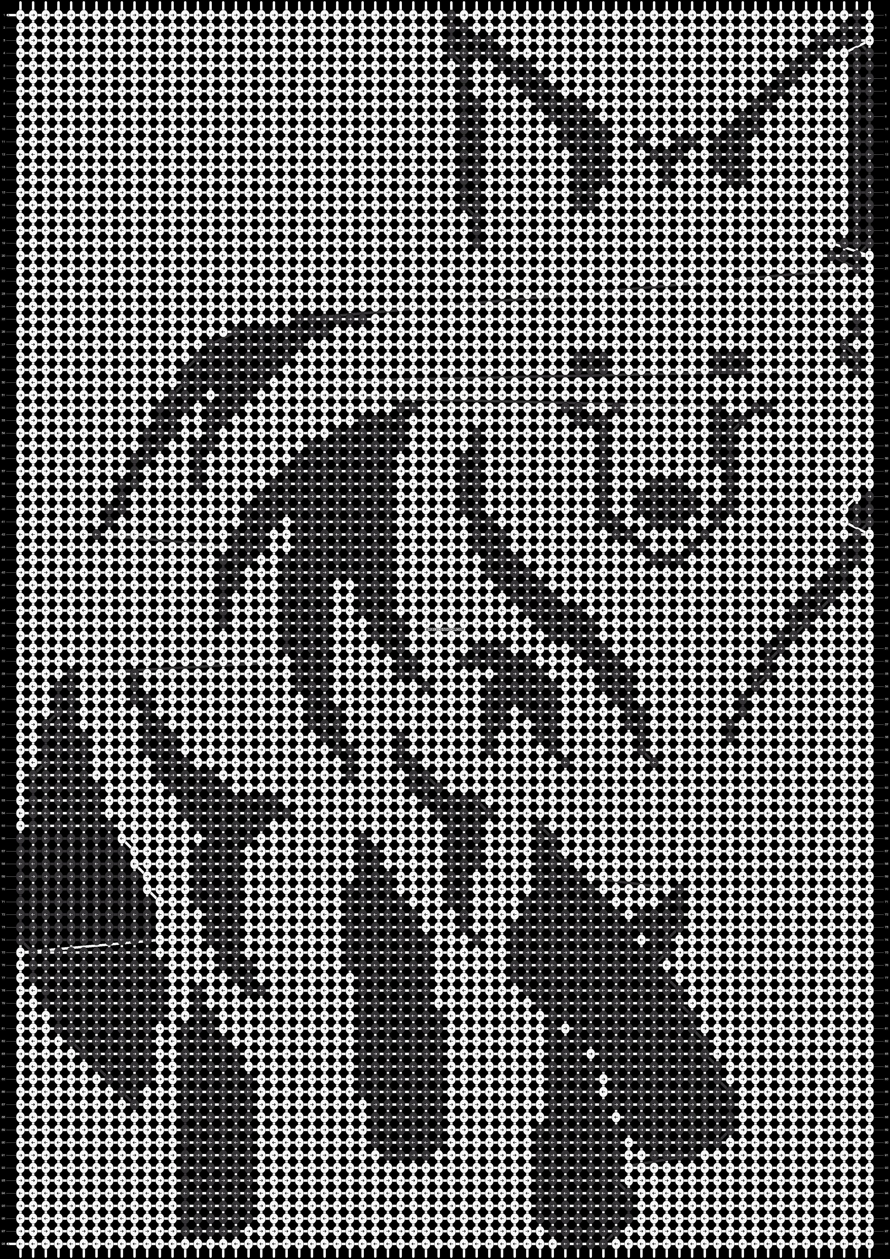 Alpha pattern #13595 pattern