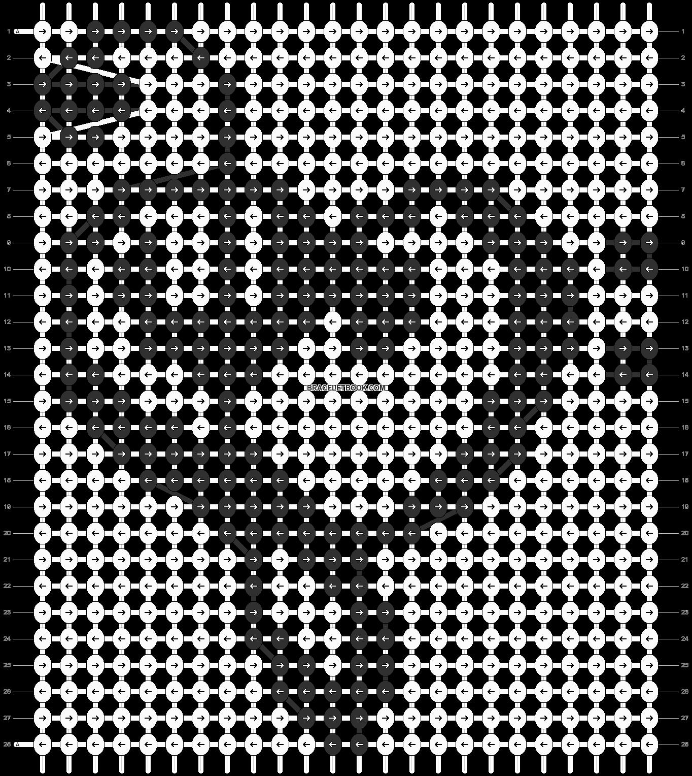 Alpha pattern #13602 pattern