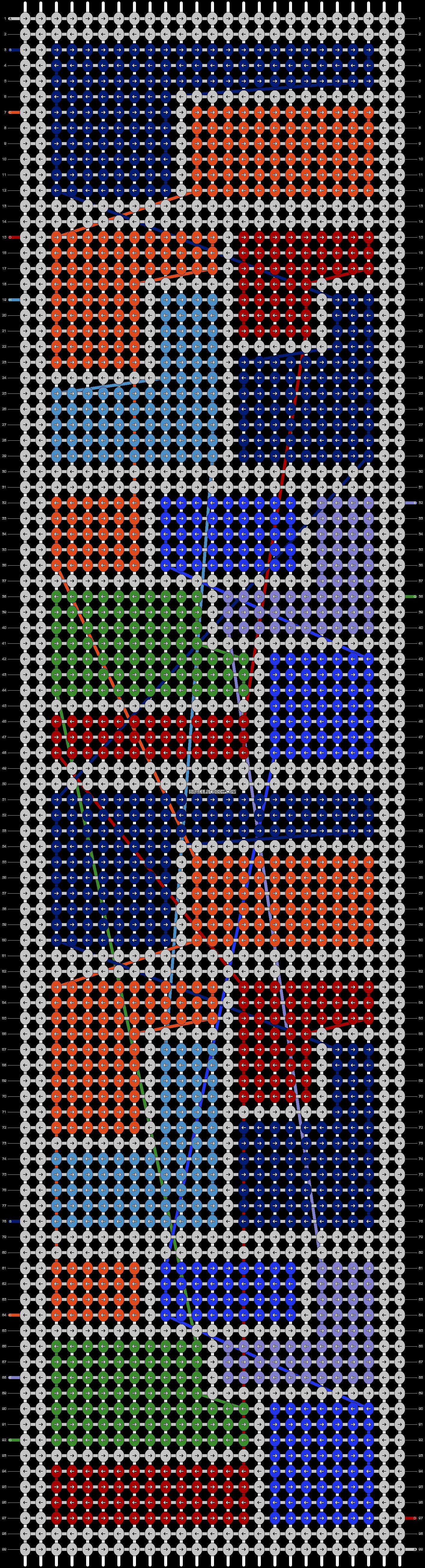 Alpha pattern #13606 pattern