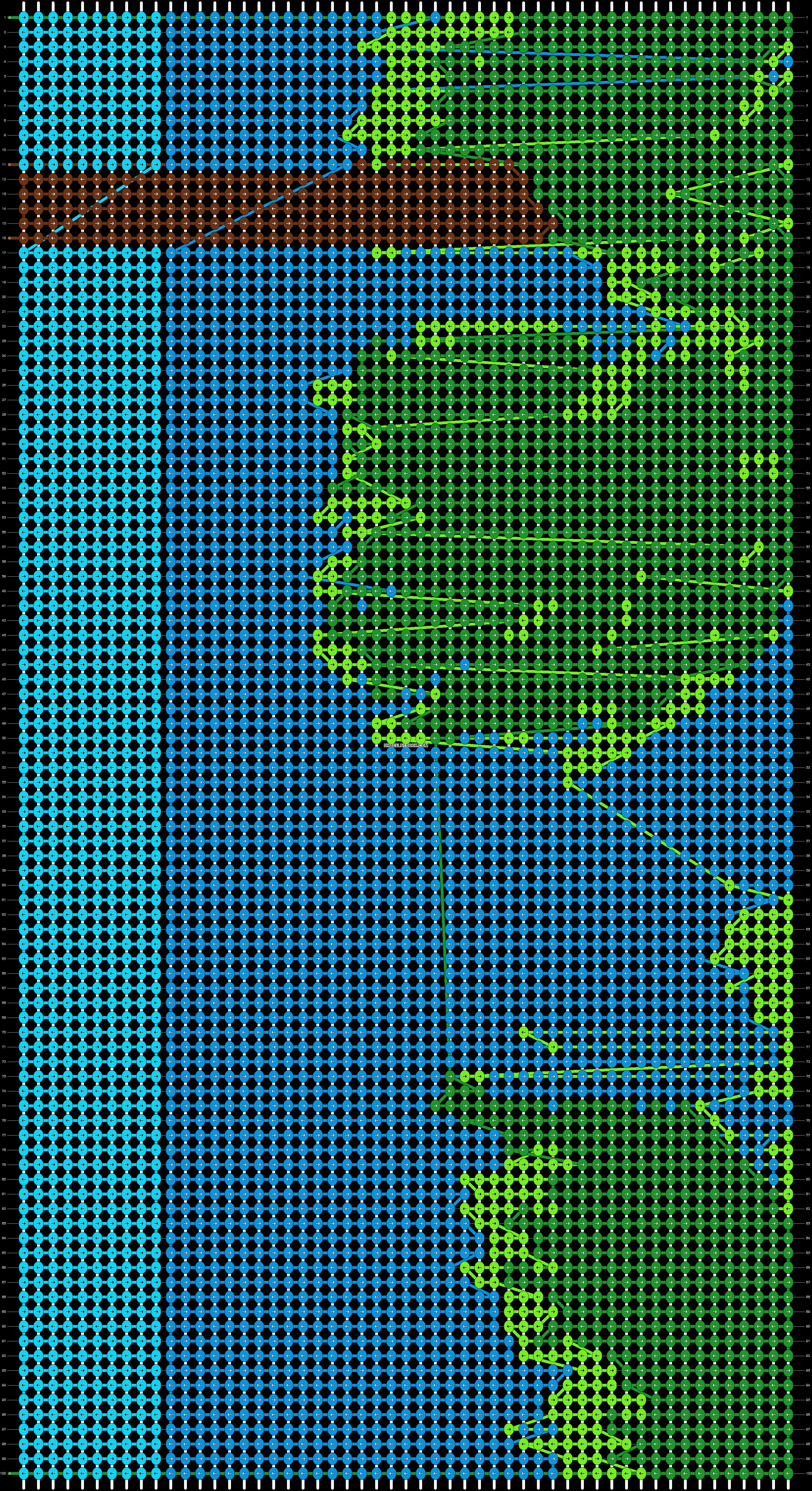 Alpha pattern #13609 pattern