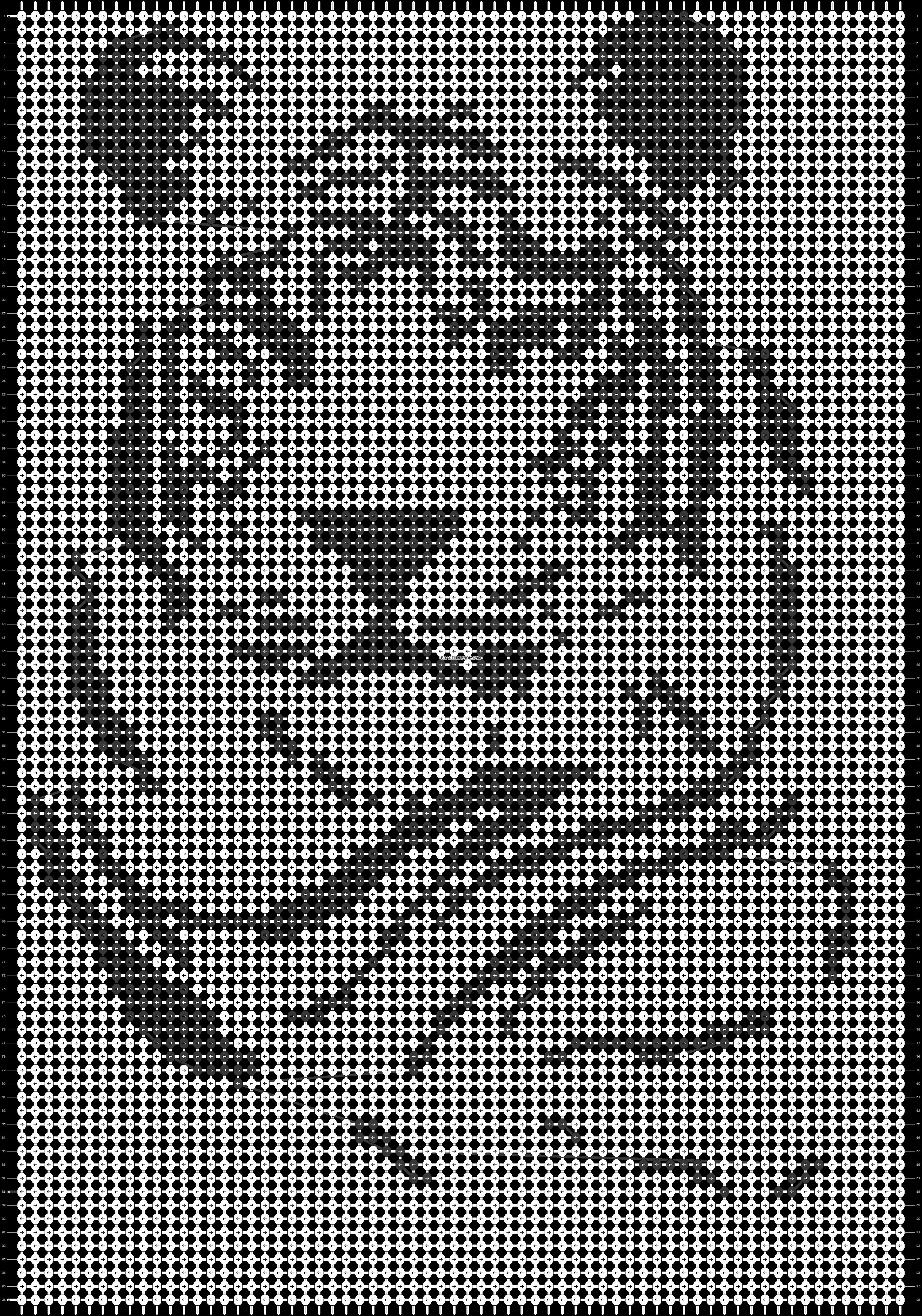 схема вышивки тигр монохром