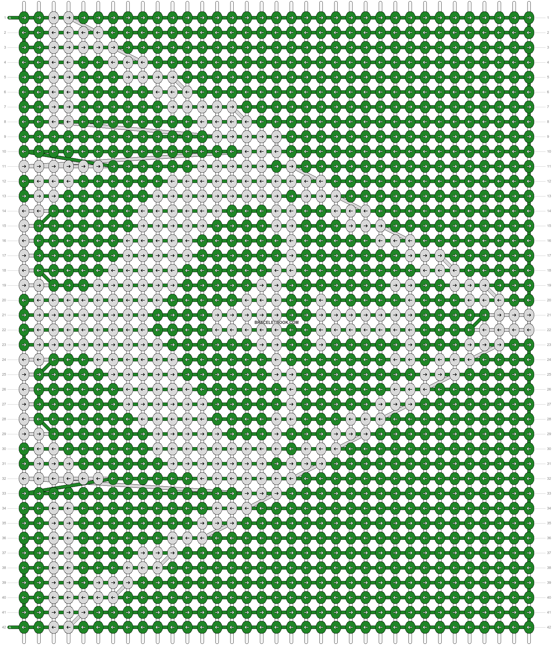 Alpha pattern #13650 pattern