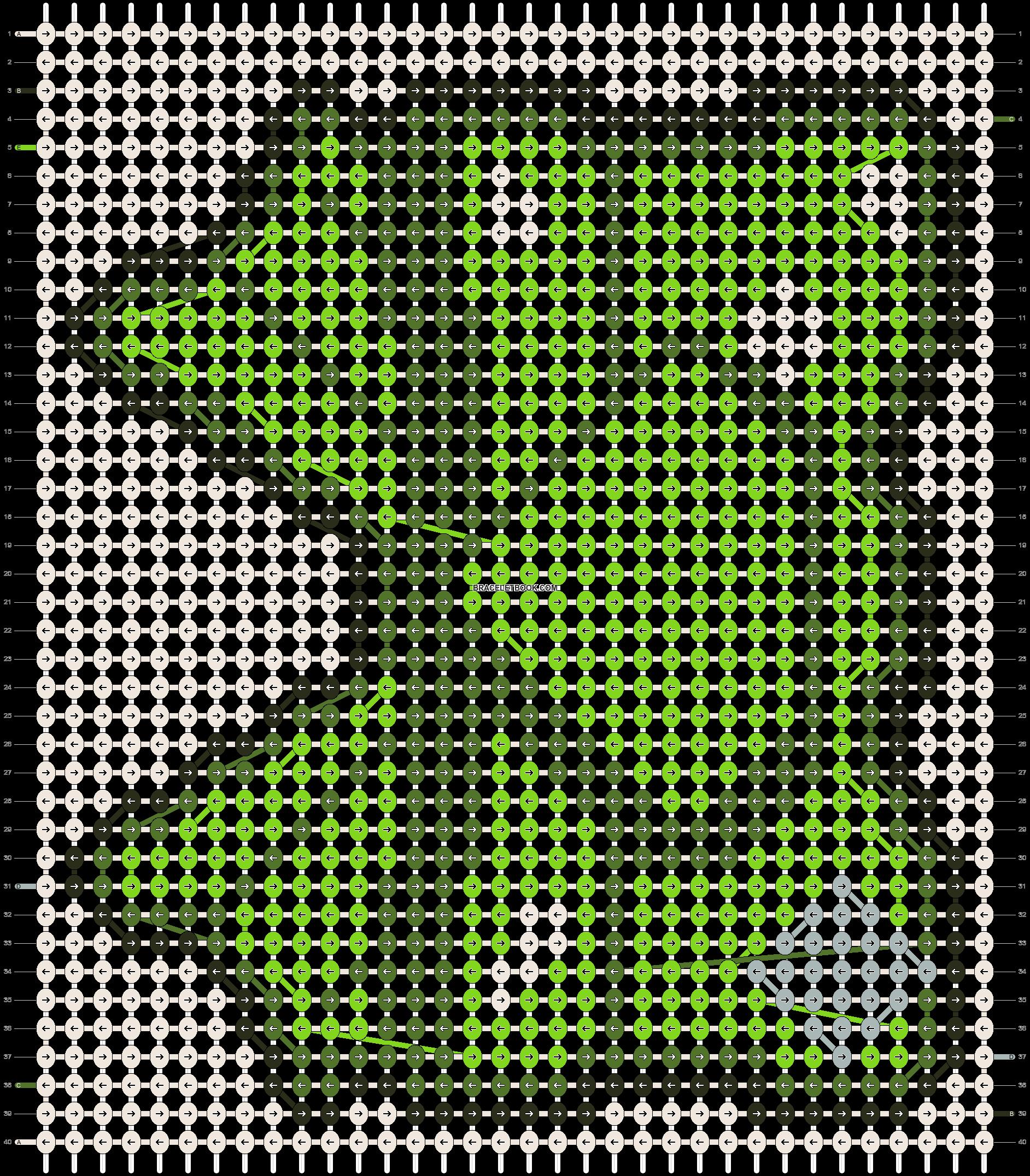 Alpha pattern #13652 pattern