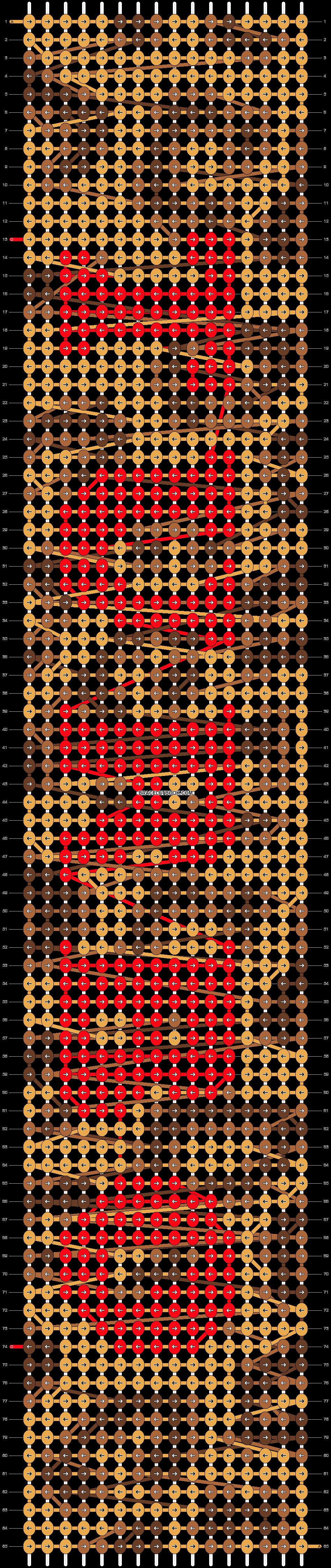 Alpha pattern #13692 pattern